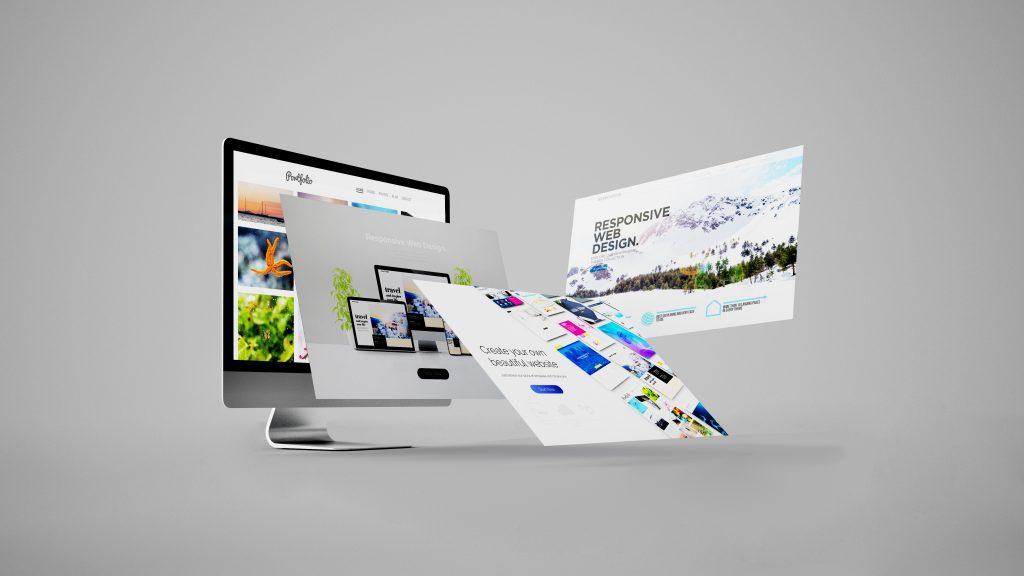 web design concept 3d rendering